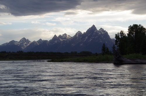 Snake River with the Tetons