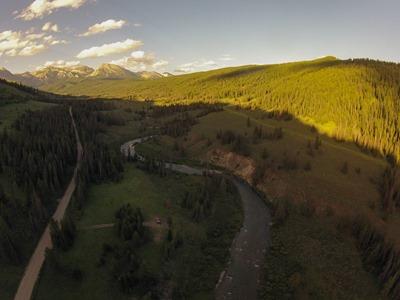 Aerial view of Granite Creek Valley campsite