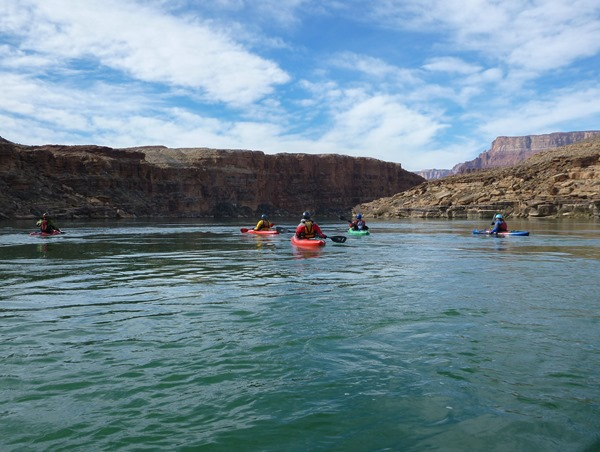 The Colorado River was green colored throughout our trip thanks to filtering from the Glen Canyon Dam