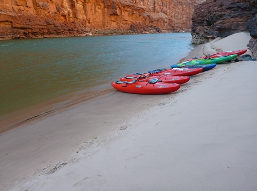 Jackson Rogue kayaks in the Grand Canyon