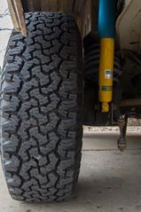 "New BFG A/T tires, Bilstein shocks, and GW 1.5"" progressive springs"