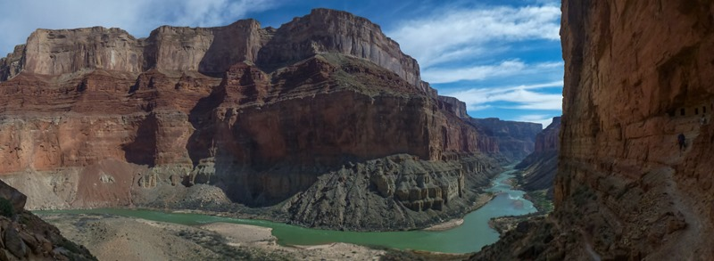 Panorama of the Colorado River from the Nankoweap Granaries